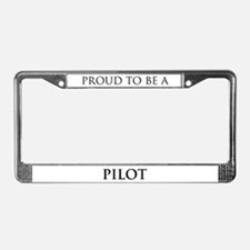 Proud Pilot License Plate Frame