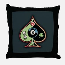 8 of Spades Throw Pillow