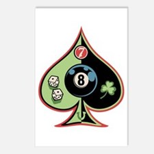 8 of Spades Postcards (Package of 8)