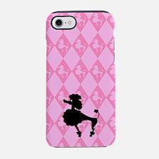 poodle-black-on-pink_ff.png iPhone 7 Tough Case