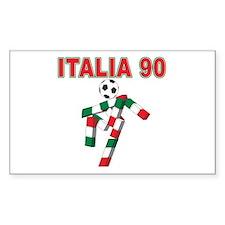 Retro 1990 Italia world cup Rectangle Decal