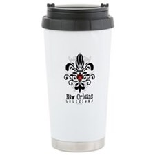 New Orleans Fleur Heart Travel Mug