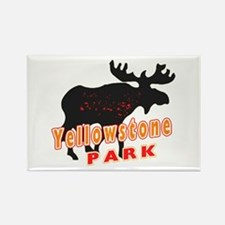 yellowstone Moose Rectangle Magnet