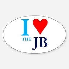 I heart the JB Oval Decal
