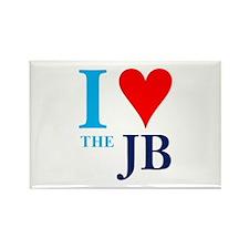 I heart the JB Rectangle Magnet