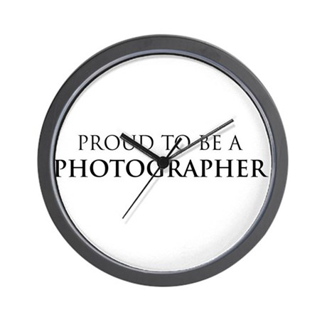 Proud Photographer Wall Clock