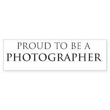 Proud Photographer Bumper Bumper Sticker