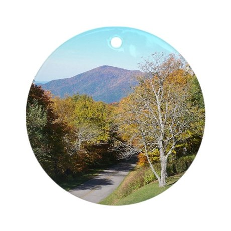 Autumn Drive Ornament (Round)