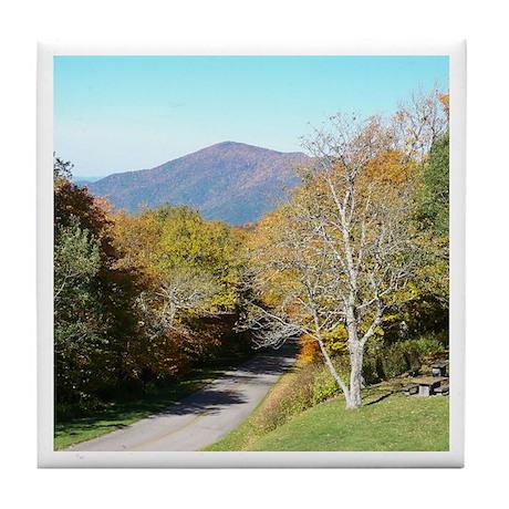 Autumn Drive Tile Coaster