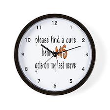 Last Nerve Wall Clock