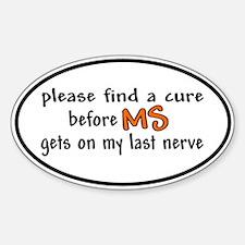 Last Nerve Sticker (Oval)