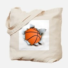 Basketball Burster Tote Bag