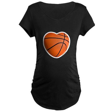 Basketball Love Maternity Dark T-Shirt