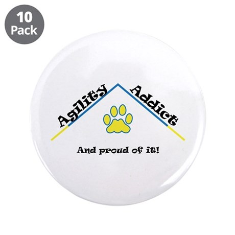 """Agility Addict 3.5"""" Button (10 pack)"""