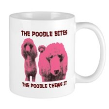 poodle white shirt Mugs