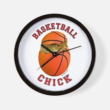Basketball Chick 2 Wall Clock
