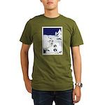 Tracks in the Snow Organic Men's T-Shirt (dark)