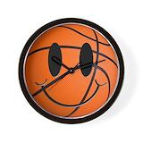 Basketball smiley face Basic Clocks