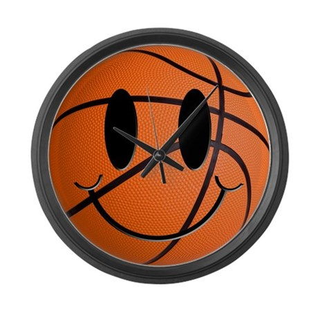 Basketball Smiley Large Wall Clock