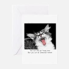 Cats-And-Quotes #1 Greeting Cards (Pk of 10)