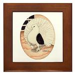 70s Indian Fantail Pigeon Framed Tile
