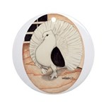 70s Indian Fantail Pigeon Ornament (Round)