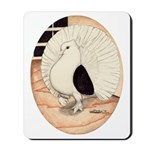 70s Indian Fantail Pigeon Mousepad