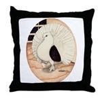 70s Indian Fantail Pigeon Throw Pillow