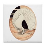 70s Indian Fantail Pigeon Tile Coaster