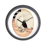 70s Indian Fantail Pigeon Wall Clock