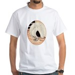 70s Indian Fantail Pigeon White T-Shirt