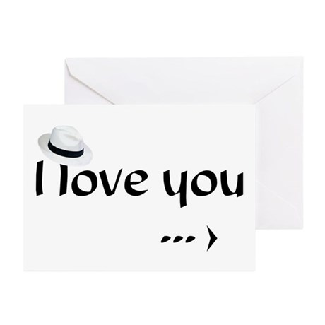 """""""I love you more (2)"""" Greeting Cards (Pk"""