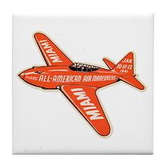 1941 Miami Air Show Tile Coaster
