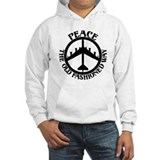 Peace the old fashion way Light Hoodies