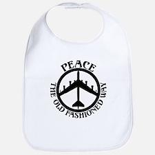 B-52 Peace the Old Fashioned Way Bib