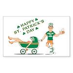 Happy Drunken St. Patrick's Day Sticker (Rectangul