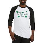 Happy St. Patrick's Day Green Shamrocks Baseball J