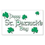 Happy St. Patrick's Day Green Shamrocks Sticker (R