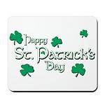 Happy St. Patrick's Day Green Shamrocks Mousepad