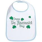Happy St. Patrick's Day Green Shamrocks Bib
