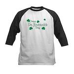Happy St. Patrick's Day Green Shamrocks Kids Baseb