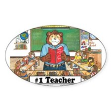 Male Elem. Teacher Oval Decal