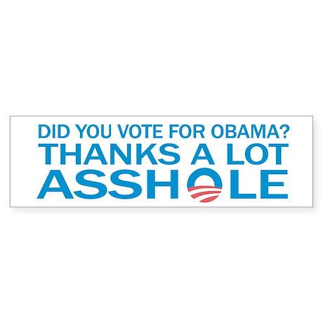 Anti-Obama Bumpersticker