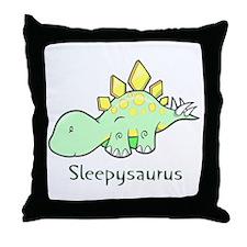 Sleepysaurus Throw Pillow