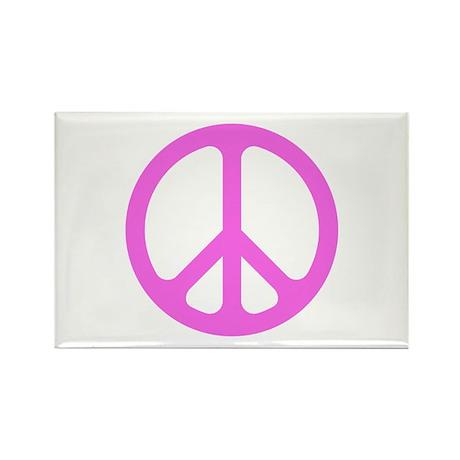 Pink CND logo Rectangle Magnet (10 pack)