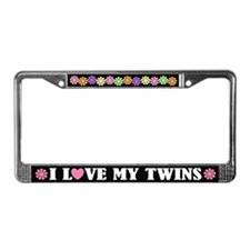 I Love My Twins License Plate Frame