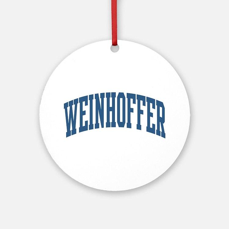 Weinhoffer Collegiate Name Ornament (Round)