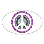 CND Floral3 Oval Sticker (50 pk)