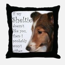 Friendly Sheltie Throw Pillow