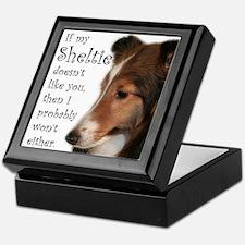 Friendly Sheltie Keepsake Box